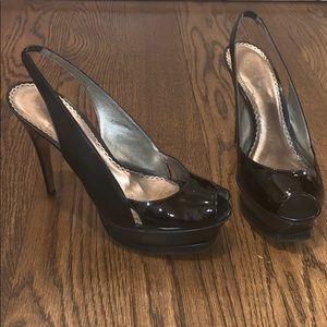 Bebe zahara black heels size 9